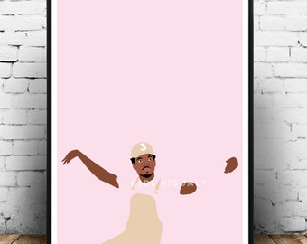 Chance the rapper merch, Chance the rapper poster, Chance the rapper wall decor, Chance the rapper merch poster, Hip hop rap poster artwork