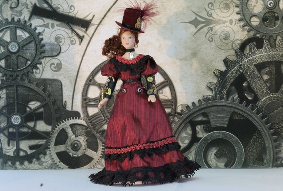 Steampunk Lady 'Delores' Dollshouse Scale 1/12th