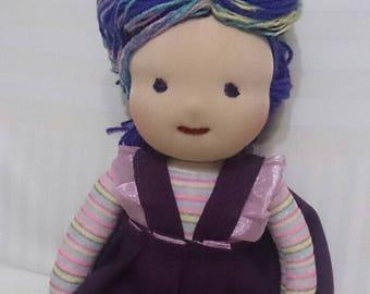 Waldorf Doll, 18.1 inch (46 cm), handmade, unique, cloth doll, fabric doll