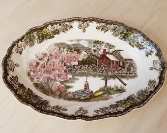 """Johnson Bros The Friendly Village - The Well 8"""" Vegetable Bowl"""