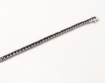 Silver and black cristal Swarovski  bracelet