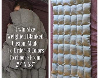 Twin Size Weighted Blanket! Custom Made to Order! 9 colors to choose from!!! Twin weighted blanket
