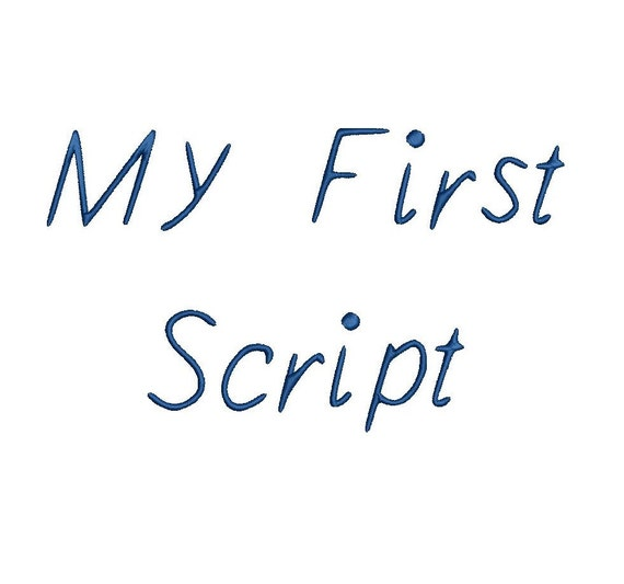 My First Script Embroidery Font Formats Dst, Exp, Pes, Jef