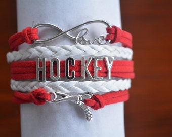 Hockey Gift - Hockey Bracelet – Hockey Gift - Perfect for Hockey Players, Hockey Coaches & Hockey Team Gifts