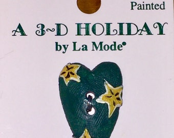 3D Holiday Country Style Buttons by La Mode