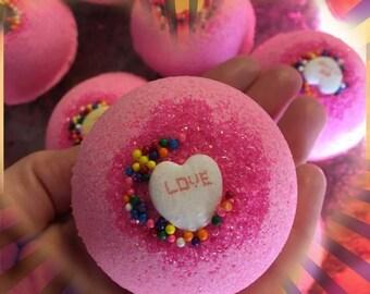Pink Chiffon Type Scented Valentine's Day Bath Bomb 4.5 oz