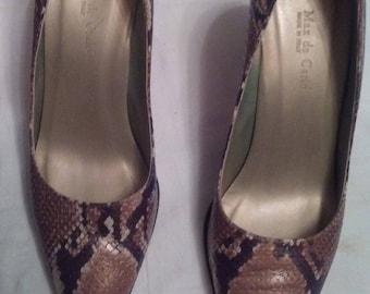 Max Decarlo snake high heels (size 7-1/2 B)