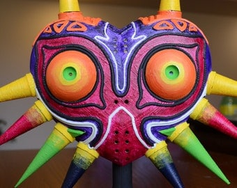 3d Printed, Hand Painted Legend of Zelda Majora's Mask Replica