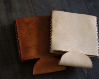 Hand Stitched Leather Can Wrap