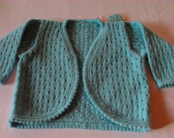 Child's teal green cardigan