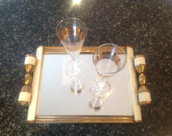 French Art Deco mirror tray