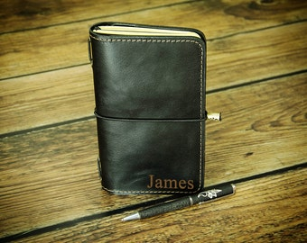 Mens Leather Notepad Etsy