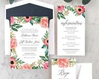 Fields of Flowers Wedding Invitations