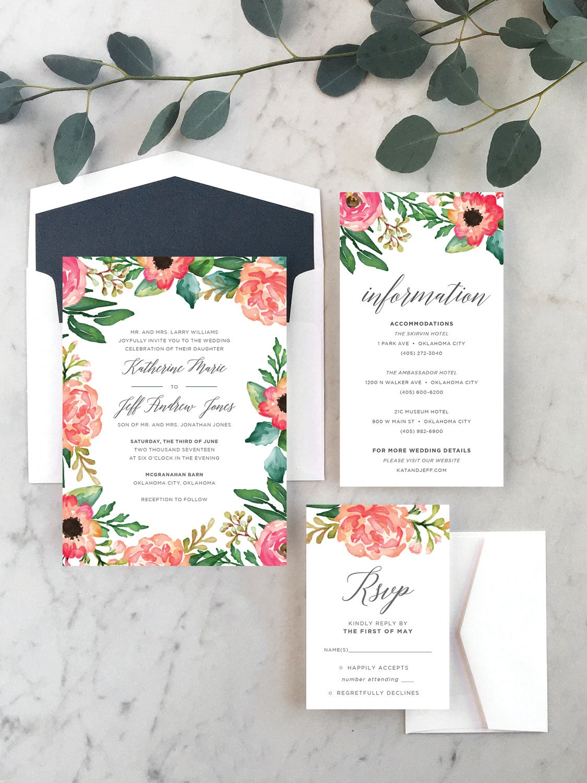 Fields of Flowers Wedding Invitations [E10261624441620237M] - $43.99 ...