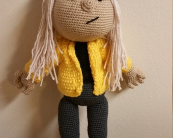 Handmade crochet Jay amigurumi doll made to order (mini size available also on site)