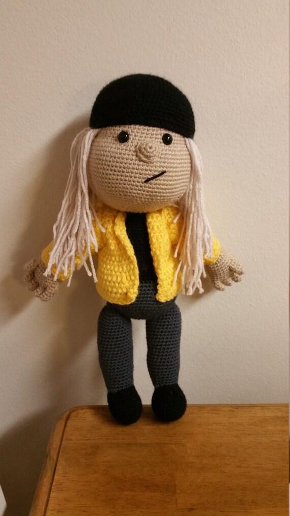 Amigurumi Mini Dolls : Handmade crochet Jay amigurumi doll made to order mini size