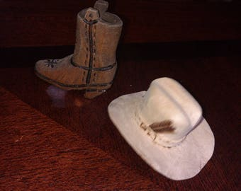 Mini cowboy hat and boot
