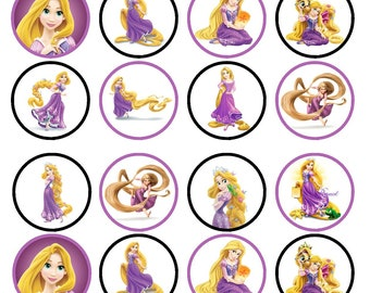 Rapunzel Princess Tangled Edible Wafer Rice Paper Cake Cupcake Toppers x 24