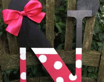 wooden letter-home decor-birthday party decor-nursery decor-mickey-minnie-decor-baby shower decor