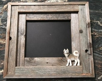 Rustic Picture Frame, Hand Carved, Moose, Eagle, Bear, Husky, Reclaimed Frame, Wildlife Display, Handmade Frame, Cabin Lodge Decor, Mancave