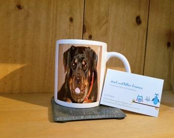 Pet memorial mug.