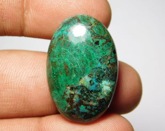 Natural Chrysocolla Cabochons,loose stone. semi precious. Gemstone 100%Natural chrysocolla semi precious 35cts.(29X19)mm