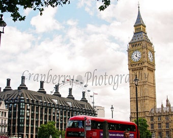 Travel Photography - Big Ben - Double Decker Bus - London Eye - Westminster - London - England