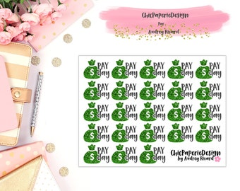 Payday stickers - Budget stickers Financial stickers Money stickers Planner sticker kit Monthly kit pay day stickers weekly kit