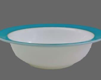 Vintage Pyrex, Turquoise, 22K GOLD, Pyrex Dinnerware, Serving Bowl, Pyrex Veggie Bowl, Retro Kitchen, Vintage Kitchen