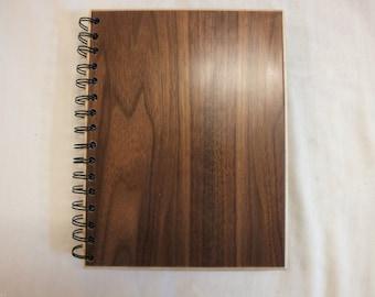 A5 Walnut/Ash Hardwood Hardback Reusable Notebook