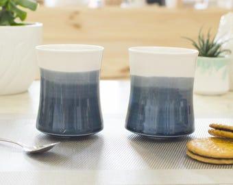 Teacup blue night - ceramic porcelain - ozeclore