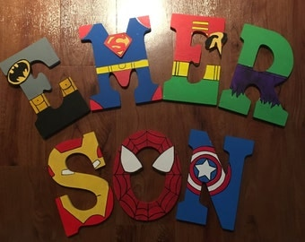 Superhero inspired Letters