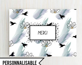Colibri - customizable card