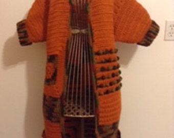 Kente' inspired Maxi Coat