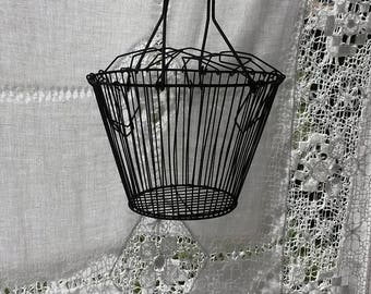 Wire Basket, Mesh Salad Dryer, Eggs, Vintage Wire Mesh Basket, Hanging Baskets, Vegetable Basket, Vintage Metal Basket, Vintage Kitchenalia