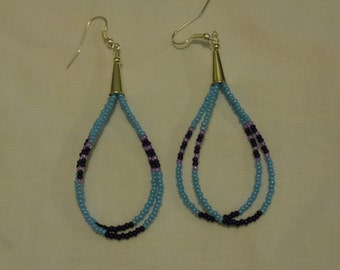 Beaded Native American Ear-Rings