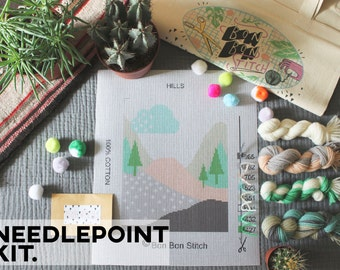Creative Needlepoint Kit - Hills - Bon Bon Stitch