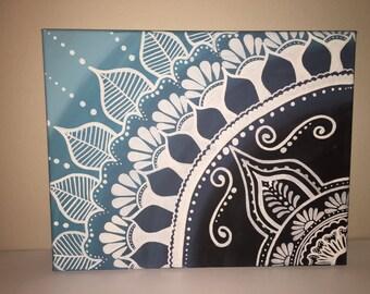 Mandala Painted Canvas