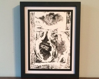 Leaf in Triplicate- Original Relief Print