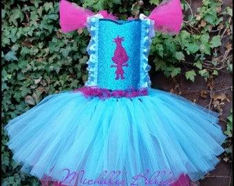 Poppy Trolls style tutu party dress