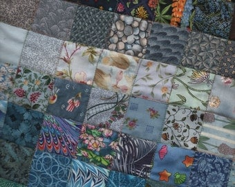 Colourwash graded small modern squared TABLE RUNNER QUILT