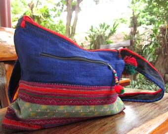"Thai ""YAM"" Vintage shoulder bag with Ethnic Embroidered"