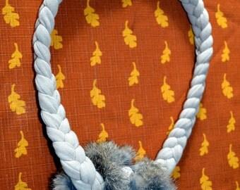 Stretchy Rabbit Fur Dog Tug Toy