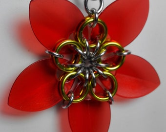 Pendant Red Flower
