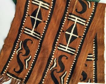 Vintage Brown African Print Table Runner
