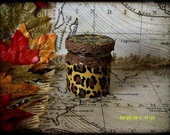 Hand Decorated Mini Secret Stash Jar Cannabis/Marijuana/Weed/Herb/Pills...Wedding Favour 45ml