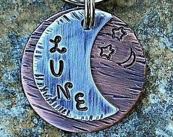 Dog Tags - Pet ID - Cat Tag - Pet Accessories - Collar Tag - Pets - Pet Tag - Metal ID - Custom ID Tag - Personalized Pet Tags -Luna Moon