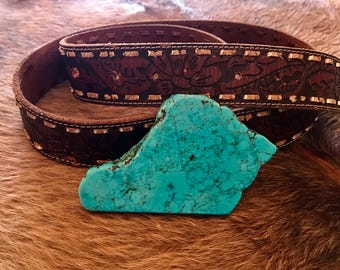 Turquoise Slab Belt Buckle