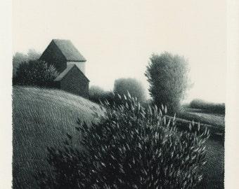 "ROBERT KIPNISS (American, b. 1931), ""Bush"", 1971, original lithograph, pencil signed"