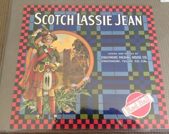 Scotch Lassie Jean Orange  - Citrus  Packing Label